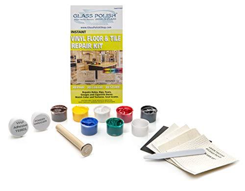 Reparaturset für Vinyl-Boden und Vinyl-Fliesen für Risse, Löcher, Verbrennungen, Dellen
