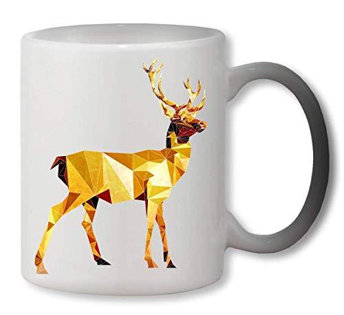 KRISSY Deer Animal 3D Painted Heat Mug Color Changing Cup Farbwechsel Tasse