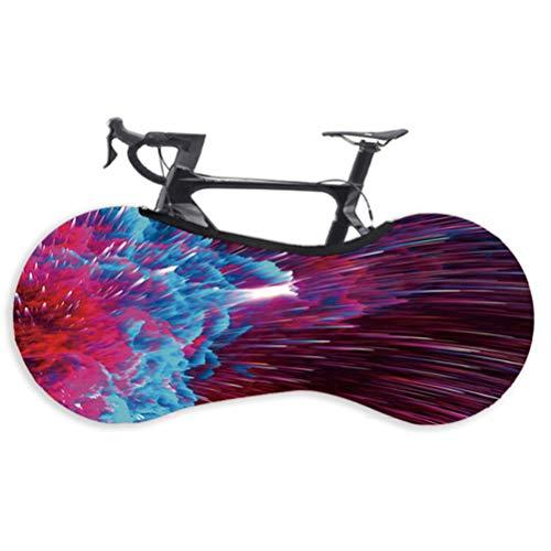 DODUOS Funda Bicicleta para Interior Cubierta de Polvo de Bicicleta elástica para Montaña Carreras Bicicletas Paquete Neumáticos Elásticos Bicicleta para Mantener Suelo Hogar y Paredes Limpias