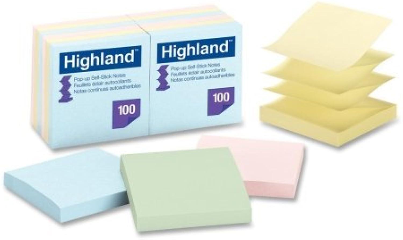 Großhandel von Fall Fall Fall von 20–3 M Highlands selbstklebend Pastell Pop-Up notes-pop-up Notizen, abnehmbarer, 7,6 x 7,6 cm 100 Blatt PD, 12 Pk, Asst Pastell B00BX9OFZ8    | Umweltfreundlich  3ae5eb