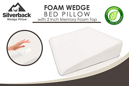 75-Wedge-Pillow-For-Acid-Reflux-Dr-Recommended-Height-Luxurious-2-Memory-Foam-Pillow-Wedge-For-Sleeping-GERD-Post-Surgery-Heartburn-and-Snoring-Washable-Bamboo-Cover-25W-x-26L-x-75H