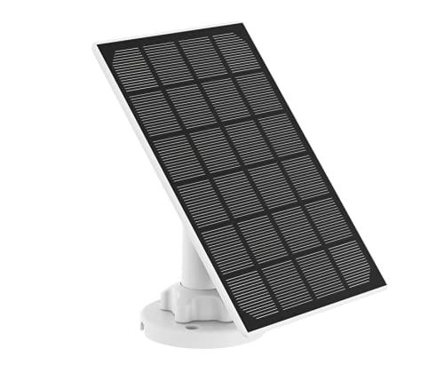 Nivian-Panel Solar para cámaras IP de Seguridad y vigilancia con bateria -Compatible Ezviz C3A y BC1C-Apta para Exterior IP65- Conector MicroUSB- DC 5V 3W- Cable 3 Metros