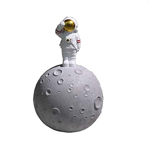 Corlidea - Hucha con forma de cerdito de astronauta para decoración de escritorio, 14 x 22 cm, juguete de resina con forma de muñeca del Día de San Patricio, regalo de Pascua, para hombres y mujeres