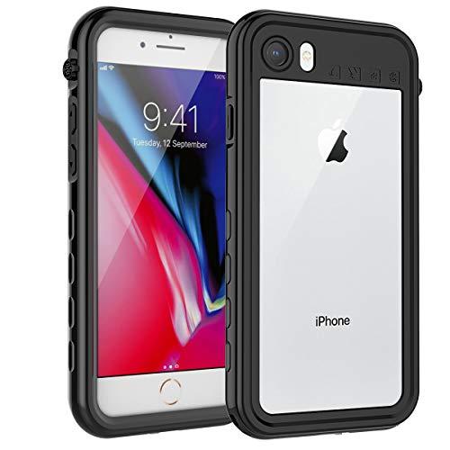 ShellBox funda iphone 8,funda iphone 7,funda iphone se 2020 IP68 impermeable con cuerda protector de pantalla integrado de silicona cuerpo completo resistente a prueba de golpes para iphone 8 7 se2020