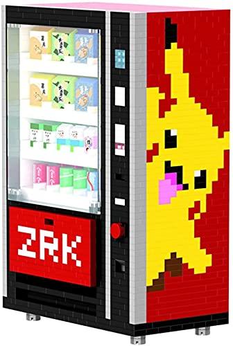 LNLJ Mini Máquina Expendedora Bloques De Construcción Accesorios De La Ciudad Bebida Kits De Caja De Alimentos Establecer Juguetes De Bricolaje para Niños
