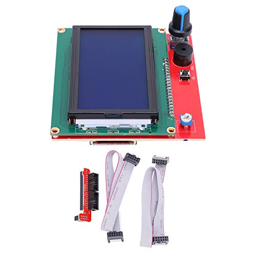 Qqmora Excellent Performance 12864 LCD Motherboard with Adapter and Line for Home Supplies 3D Printer Accessories