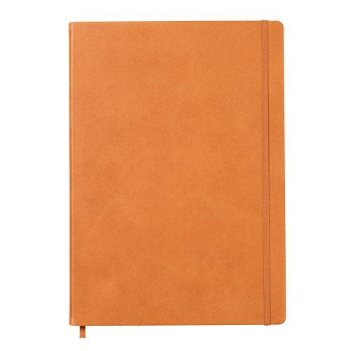 LEUCHTTURM1917 345647 Notizbuch Master Classic (A4+), Echtleder, 233 nummerierte Seiten, Cognac, kariert