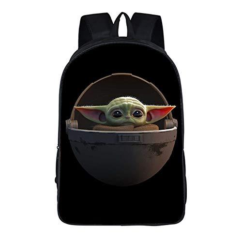 HHNN 16 Pulgadas 3D Anime Yoda Bebé Cosplay Mochila Mochila