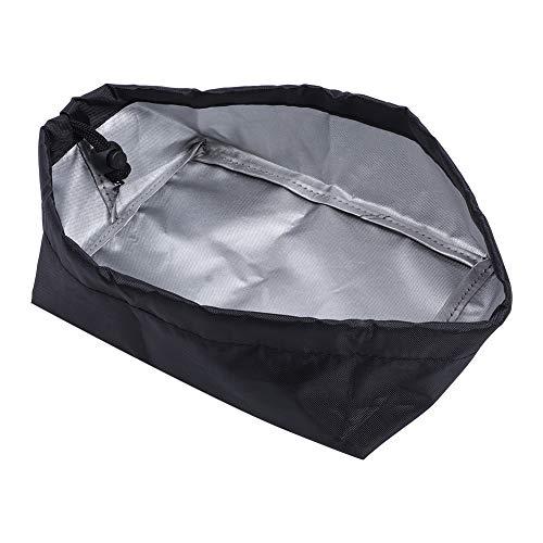 20x15x8cm 420D Freidora de tela Oxford Cubierta antipolvo Máquina de freír Cubierta protectora exterior para uso doméstico Aprox.23g(negro)