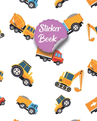 Sticker Book: Cool Cover Design Kids Sticker Collection Book & Sticker Books...