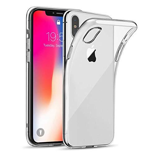 wsiiroon Hülle für iPhone X/iPhone XS, Handyhülle für iPhone X, Ultra Dünn, Kratzfest, Transparent Schutzhülle, Hohe Zähigkeit, Soft TPU Silikonhülle, Case für iPhone X/iPhone 10 (Durchsichtige)
