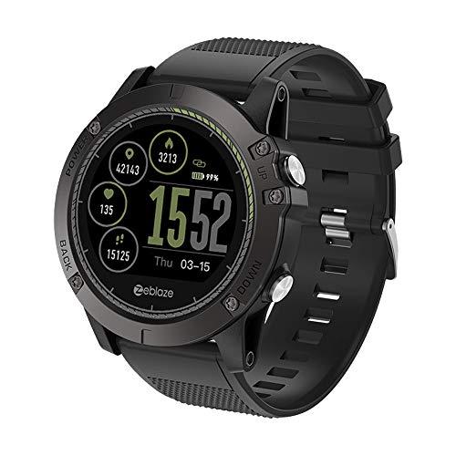Zeblaze Vibe 3 HR Smartwatch, Hongtianyuan FitnessTracker, orologio da polso con cardiofrequenzimetro IP67 impermeabile Tracker attività Tracker Bluetooth Smart da polso (Nero)