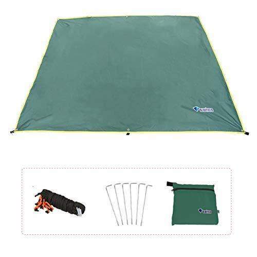 Azarxis Toldo Impermeable Ligero Lona de Tiendas de Campaña Alfombras para Vajilla de Exterior y Picnic Playa (Verde, S - 150 x 200 cm)