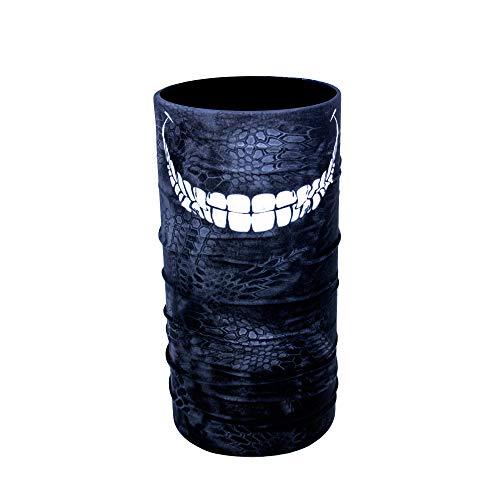 ZaPro HD Druck Premium - Multifunktionstuch - Verschiedene Designs Bedrucktes Halstuch Motorrad Sommer Frühling Totenkopf Skull Fastnacht Bunt Maske Joker Buff Tuch Venom (Big Smile)
