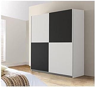 FINLANDEK Armoire 170,3 x 190 x 61 cm blanc noir ULOS