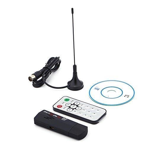 Zerone R820T Receptor de DVB-T, USB 2.0 Digital DVB-T SDR + Dab + FM HDTV Receptor de sintonizador de TV Stick RTL2832U + R8202 Receptor de sintonizador 25-1700 MHz