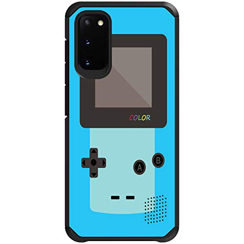 MINITURTLE Compatible with Samsung Galaxy S20 5G Hard Shell Dual Layer Bumper Case Cover [Defender] - Blue Gameboy