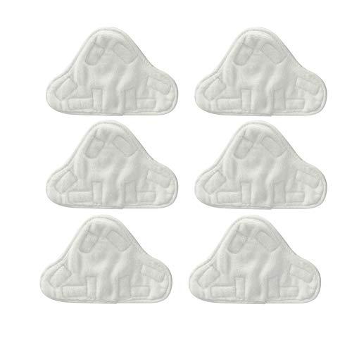Naisde Almohadillas De Tela Lavables De Microfibra para Adaptarse a Vax, Bionaire, Efbe-schotte, Montiss & Delta Steam Truebles (Paquete De 6) (paños De Vapor)