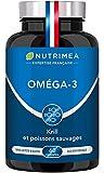 Omega 3 & Krill d'Antarctique | Huile de Poissons Sauvages | Antioxydant Naturel | Cognition & Système Immunitaire | Haute concentration en EPA/DHA & Astaxanthine | Fish oil | Fabrication Française | Nutrimea