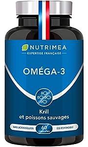 ●● OMÉGA 3 ET ANTIOXYDANTS ●● Nutrimea a élaboré pour vous une formule unique alliant huile de poissons sauvages et de krill d'Antarctique. Le krill est une petite crevette fortement concentrée en astaxanthine, un antioxydant naturel 6000 fois plus p...