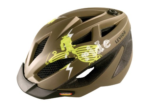 Levior Kinder Fahrradhelm Gekko, Cool-Brown Metallic Matt, M, 45111300