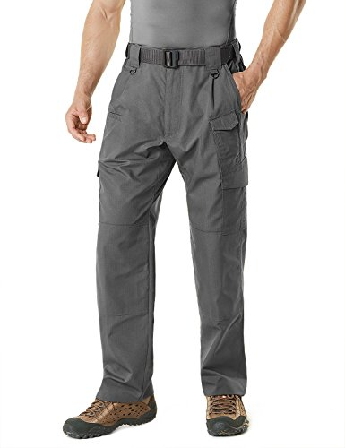 CQR CQ-TLP105-CHC_30W/32L Men's Tactical Pants Lightweight EDC Assault Cargo TLP105