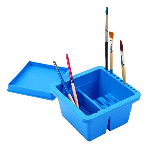 Grey Honbay 1PCS Canvas 20 Slots Paint Brush Storage Pouch Art Paint Brushes Case Paint Pen Holder