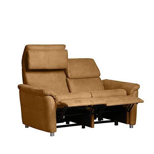 Cavadore 2-Sitzer Sofa Chalsay inkl. verstellbarem Kopfteil und Relaxfunktion/ mit Federkern / 2er Kino-Sofa modern / Größe: 145 x 94 x 92 cm (BxHxT) /...