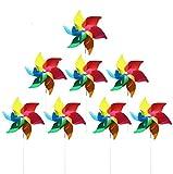 (8 por Paquete) Molinos de Viento de Colores como Regalos para Que los niños jueguen, o como una decoración para Jardines de Infantes, Jardines, Cuartos de niños, Fiestas o vitrinas