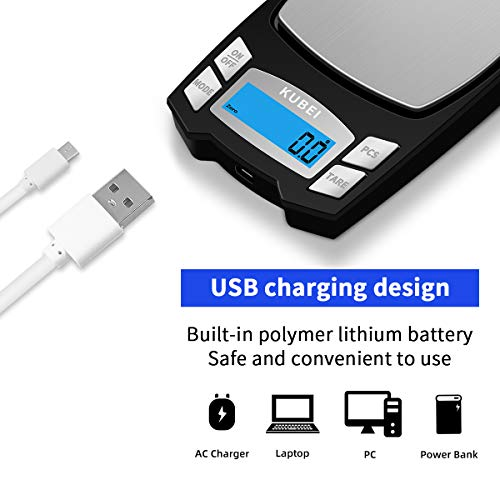 KUBEI Rechargeable Digital Pocket Scale