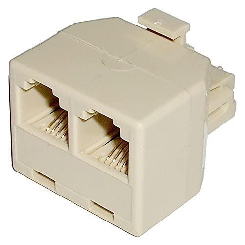 BeMatik - Duplicador RJ11 Compacto (1 RJ11-M a 2 RJ11-H)