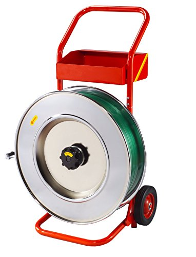 Profi-Abroller/Abrollwagen für oszilliertes Stahlband (Packenwicklung) und PP-/PET-Band