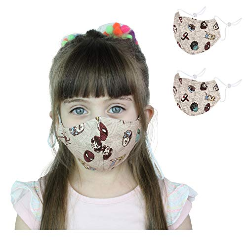 Kids Face Mask Reusable and Washable, Cloth Face Covering with Adjustable Ear Loops - Unisex for Children Boys Girls (Marvel, 7-15 y) 2 pcs
