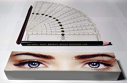 CTR Stencil Sticker for Eyebrow Microblading Template Only One Form by CTR (24 pcs) (The best Form 24pcs)