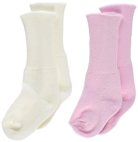Little Garnalen pasgeborenen baby meisjes paar sokken in doos met strik, 2 stuks