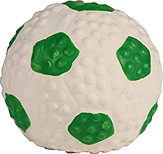 Coastal Pet Products 83206 GRNDOG Li'L Pals Latex Soccerball Dog Toy Green/White, 2 in