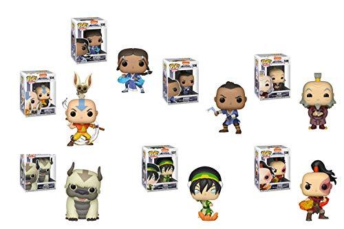 Funko Pop!: Bundle of 7: Avatar - Zuko, Iroh with Tea, Aang with Momo, Katara, Sokka, Appa and Toph