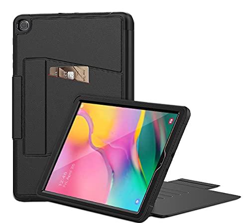 WeeYuu - Funda para Samsung Galaxy Tab A de 10,1 pulgadas 2019 (SM-T510 / T515), función de encendido y apagado automático [7 ángulos de imán] negro Negro