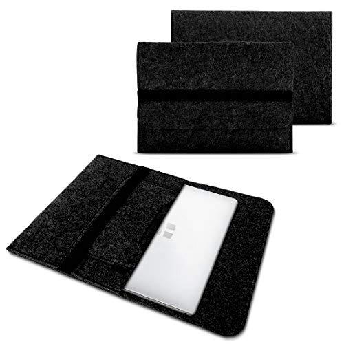 NAUC Laptoptasche Sleeve Schutztasche Hülle kompatibel für Trekstor Surftab Theatre 13,3 Zoll Tasche Netbook Ultrabook Laptop Hülle, Farben:Dunkel Grau