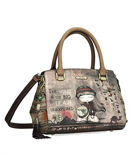 Anekke Handtasche mit zwei Trägern, braun.