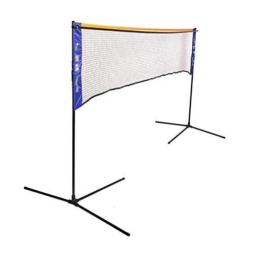 KKLL Portable Tennis Badminton Net Bracket Outdoor Sport Training Indoor Foldable Tennis Bracket 5.1 Meters