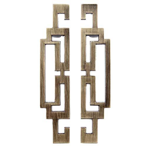 FBSHOP(TM) 1 Paar Antike Bronze Türgriff Möbelgriff Türknauf Fenstergriff Schubladengriff Retro Griff Antik Finish Look Lochabstand 64mm