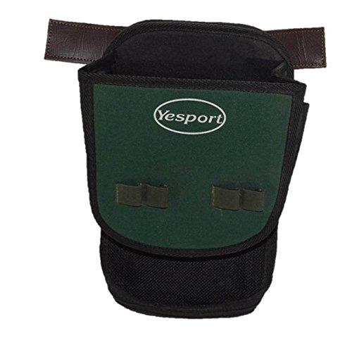 CAZA Y AVENTURA Una Bolsa de ojeo-Bolsa portacartuchos en Lona Verde. con Enganche para Llevar en el cinturón.para 60 Cartuchos