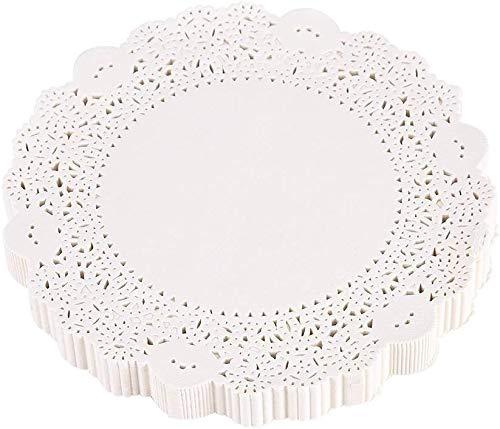 Yosoo Papier Deckchen ausgehöhlten Vintage Lace Paper Deckchen Kuchen Verpackung Pads Hochzeit Geschirr Dekoration Set von 180 Multi Größe(10.5inch)