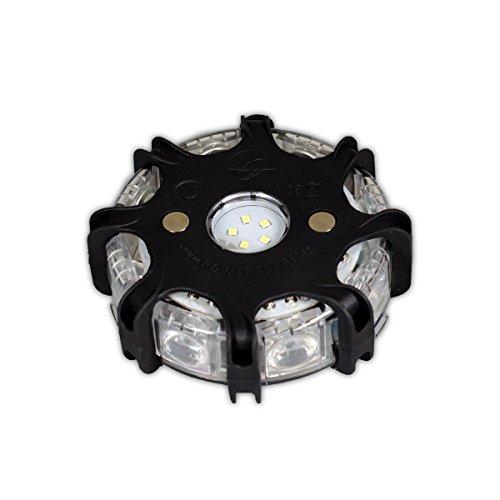 Powerflare Plus schwarz LED Signallicht extra hell (rote und blaue LED)