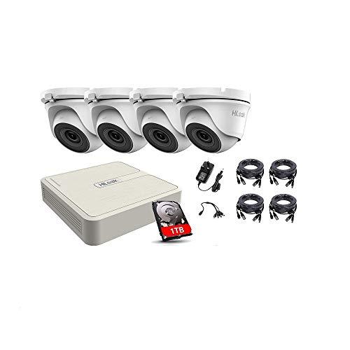 HIKVISION HILOOK CCTV sistema de seguridad 4CH DVR 1TB HDD 4X DOME kit de cámara al aire libre