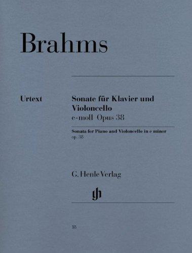 Johannes Brahms: Cello Sonata In E Minor Op.38 (Urtext Edition). Für Cello, Klavierbegleitung