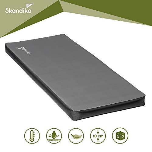 skandika Easy Single/Double 3D Premium selbstaufblasende Isomatte Luftmatratze selbstfüllend, ideal für Zelten, Outdoor, Camping, Gästebett (3D Premium Single)