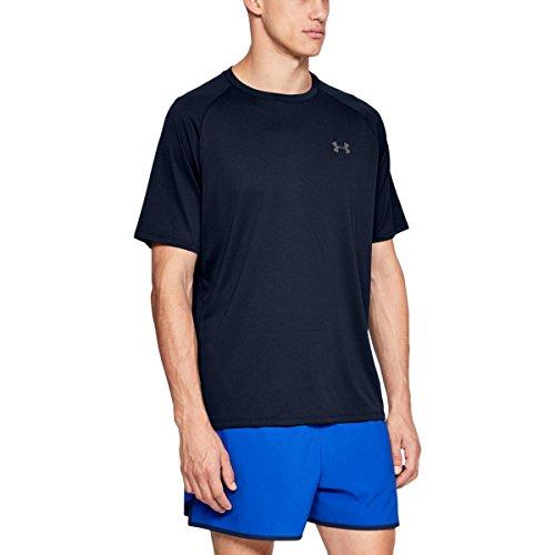 Under Armour Men's UA Tech 2.0 Short Sleeve T-Shirt, Blue (Academy/Graphite (408)), Small (Sports)
