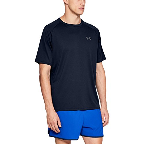 Under Armour Tech 2.0 Shortsleeve Camiseta, Hombre, Azul (Academy/Graphite), M